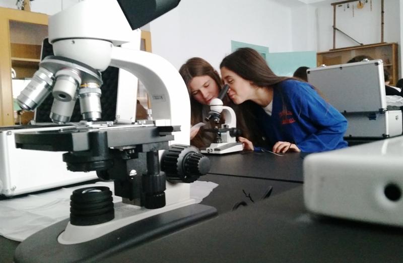 Microscopios-profesor-y-alumnos