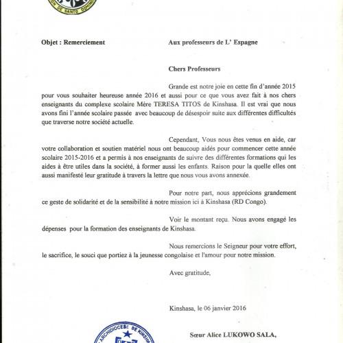 Carta desde Kinshasa