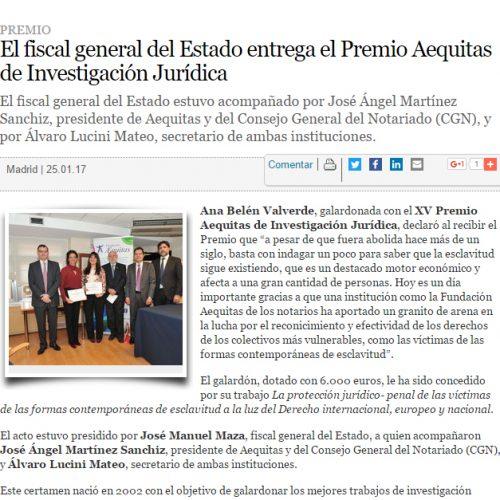 XV Premio Aequitas de Investigación Jurídica