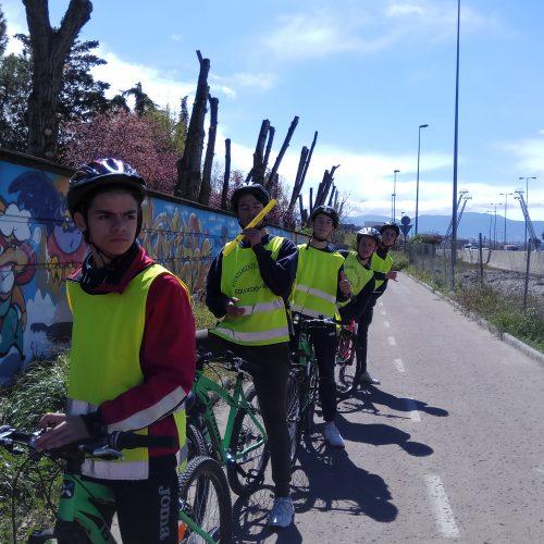 Paseo en bicicleta por la ciudad. (3º ESO A)