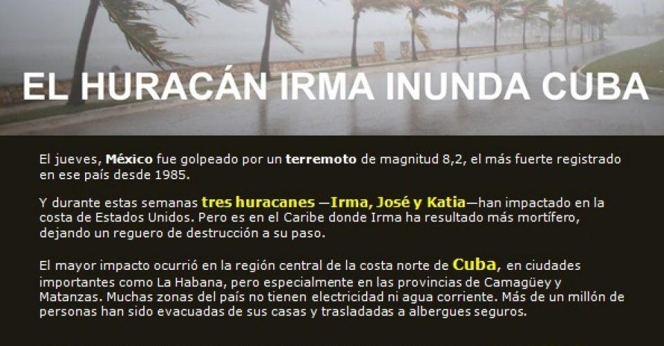 El huracán Irma inunda Cuba