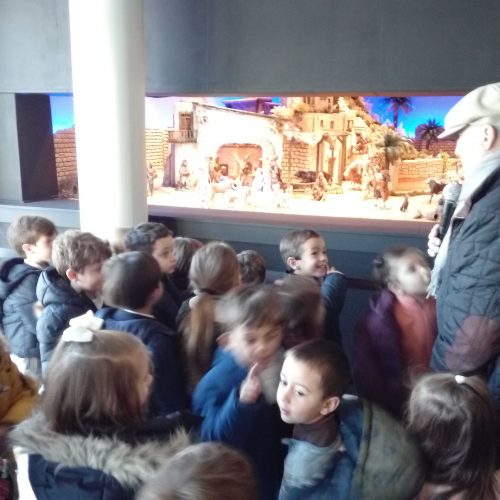 Visita al Belén de la Caja Rural (Ed.Infantil)