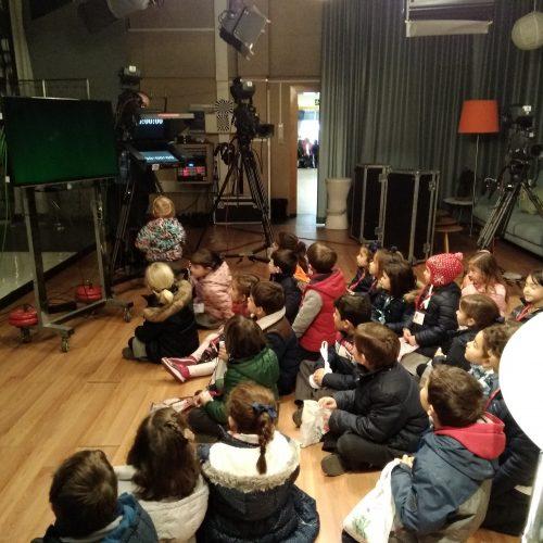 Visita de E. Infantil 5 años a TG7, la televisión municipal de Granada